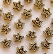 Gold Plated Beads 5mm Star - 20